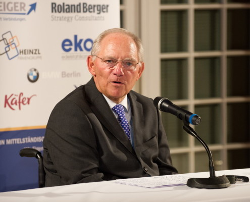 Laudator Bundesfinanzminister Dr. Wolfgang Schäuble MdB