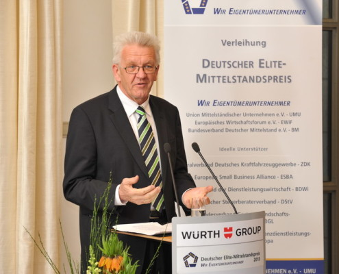 Laudator Ministerpräsident Winfried Kretschmann